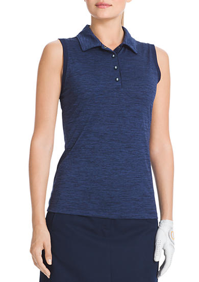 IZOD Golf Women's Sleeveless Heather Polo Shirt