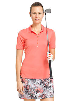 IZOD Women's Solid Polo Shirt