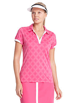 IZOD Women's Diamond Jacquard Polo Shirt