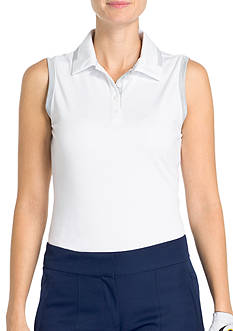 IZOD Golf Women's Sleeveless Heather Polo Shirt