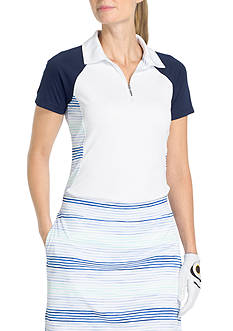 IZOD Raglan Pieced Polo