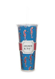 crown & ivy™ Seahorse Double Wall Tumbler