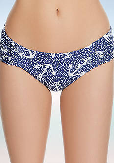 Betsey Johnson Ahoy Babes Cheeky Hipster Swim Bottoms