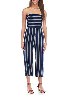 PAPER CRANE Strapless Striped Jumpsuit