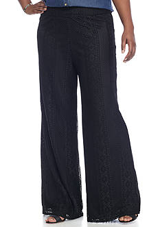 New Directions Plus Size All Over Crochet Pants