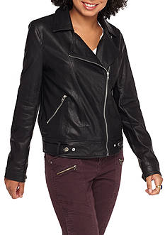 BLU PEPPER Faux Leather Jacket