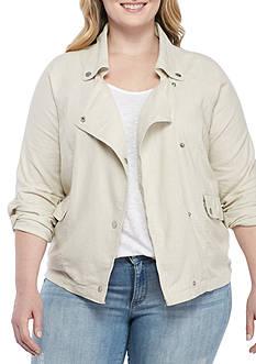 BLU PEPPER Plus Size Moto Jacket