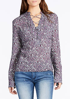 WILLIAM RAST™ Lily Lace Up Front Blouse