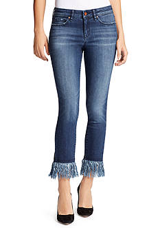 WILLIAM RAST™ Fringe Ankle Skinny Jean