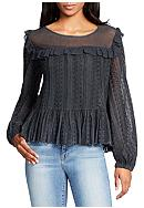WILLIAM RAST™ Christine Ruffle Lace Top