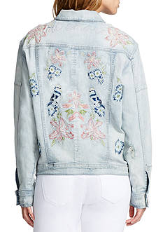 WILLIAM RAST™ Embroidered Boyfriend Denim Jacket