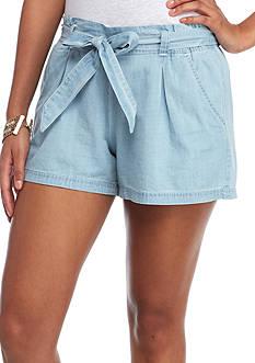 Red Camel Paper Bag Shorts