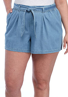 Juniors Plus Size Shorts And Crops