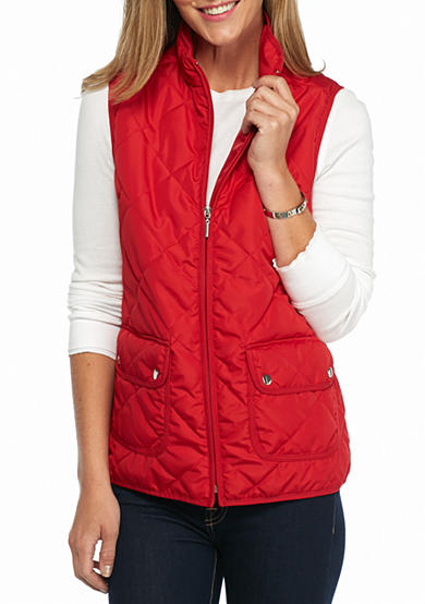 New Directions® Weekend Two Pocket Puffer Vest