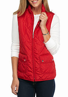 New Directions Weekend Two Pocket Puffer Vest