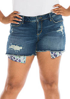 SLINK JEANS Plus Size Cutoff Denim Shorts
