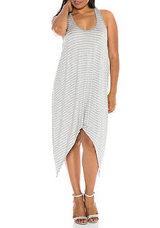 SLINK JEANS Plus Size Stripe Tank Dress