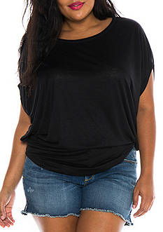 SLINK JEANS Plus Size Short Sleeve Dolman Top