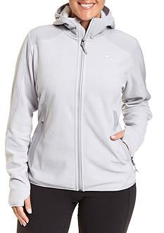 Champion Women's Plus textured fleece zip front hoody