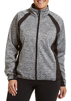 Champion Women's Plus mock neck bonded Softshell Jacket