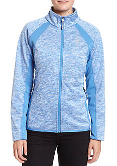 Champion Mock neck bonded knit softshell jacket