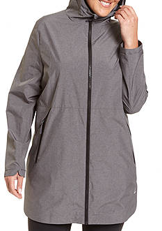 Champion® Women's Plus technical 3/4 rain jacket