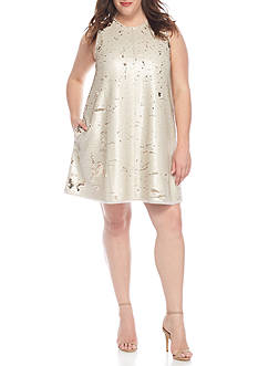 RACHEL Rachel Roy Plus Sequin Swing Dress