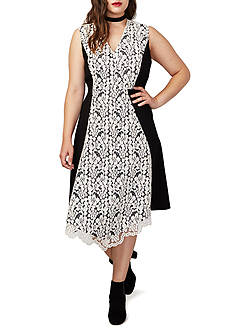 RACHEL Rachel Roy Plus Lace Combo Dress