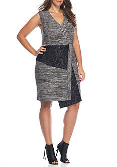 RACHEL Rachel Roy Plus Size Mixed Media Dress