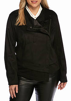 RACHEL Rachel Roy Plus Size Side Zip Jacket