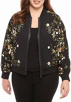 RACHEL Rachel Roy Plus Size Floral Bomber Jacket