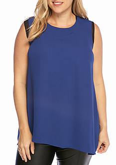 RACHEL Rachel Roy Plus Size Sleeveless Blouse