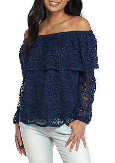 Basil & Lola Off The Shoulder lace Top