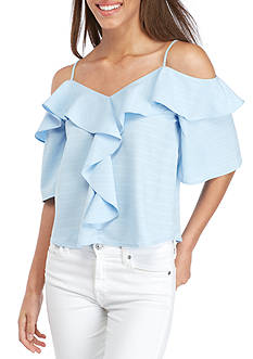 Basil & Lola Off-The-Shoulder Ruffle Top