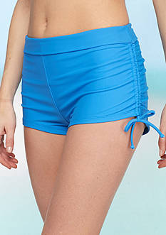 Bella Fiore™ Solid Side Shirred Swim Short