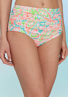 Bella Fiore™ Miami Splash Hi-Waist Swim Bottoms