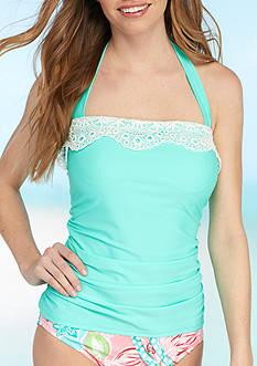 Bella Fiore™ Lace Solids Bandeaukini Swim Top