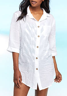 New Directions Newport Shirt Swim Cover Up