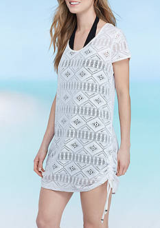 New Directions Urban Tribe Crochet Side Tie Swim Cover Up