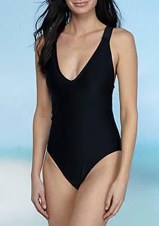 RACHEL Rachel Roy Multi Strap Back Tank One Piece Swimsuit