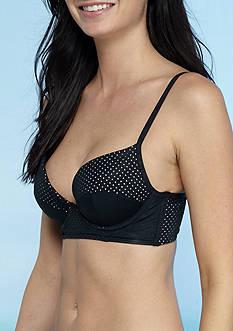RACHEL Rachel Roy Laser Cut Laced Back Molded Push Up Bralette Swim Top