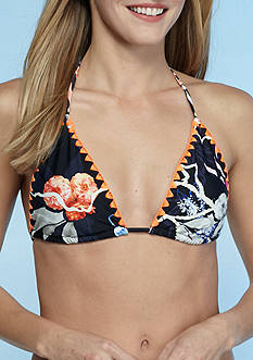 RACHEL Rachel Roy Artful Floral String Triangle Bikini Bra Top
