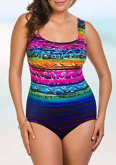 Longitude St. Lucia Double X-Back One Piece Swimsuit