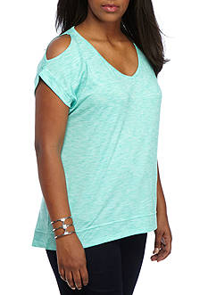 Marika Plus Size Elsa Cold Shoulder Tee