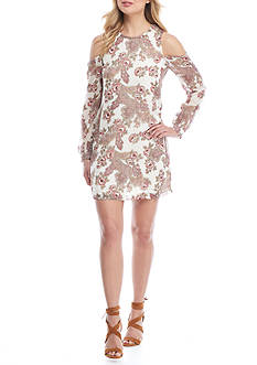 Wayf Cold Shoulder Shift Dress