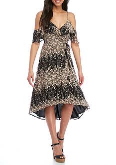 Wayf Walden Cold Shoulder Wrap Dress