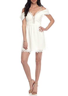Wayf Bluff Lace Trim Dress