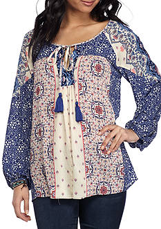 Penelope Project Peasant Patchwork Blouse
