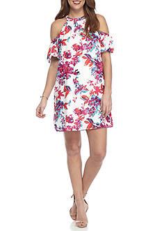 devlin Tessy Floral Cold Shoulder Dress