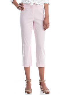 Crown & Ivy™ Pin Stripe Capri Pant